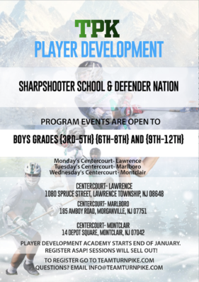 Winter Player Development- Sharpshooter and Defender Nation in Lawrence, Marlboro, and Montclair