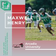 Maxwell Henry Class of 2020 Arcadia University