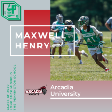 Maxwell Henry Class of 2020 Arcadia University