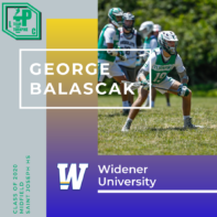 George Balascak Class of 2020 Widener University