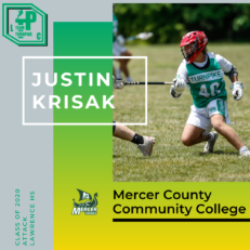 Justin Krisak Class of 2020 Mercer County Community College
