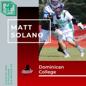 Matt Solano Class of 2020 Dominican College
