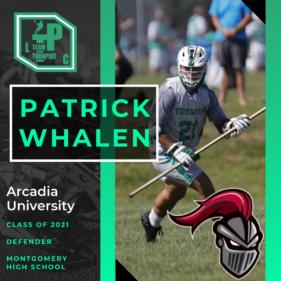 Patrick Whalen Class of 2021 Arcadia University