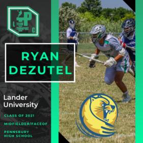 Ryan DeZutel Class of 2021 Lander University