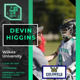 Devin Higgins Class of 2021 Wilkes University