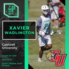 Xavier Wadlington Class of 2021 Caldwell University